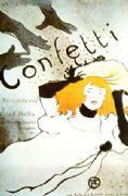 Vintage French advertising poster - Toulouse Lautrec Confetti